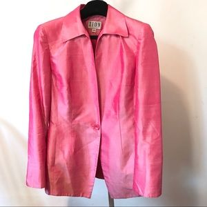 Zion New York Woman's 100% Silk Pink Jacket